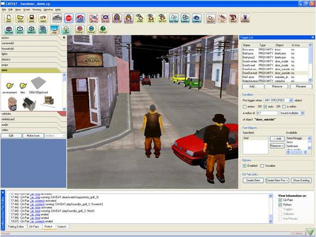 Handover_street in the CAVEAT authoring interface